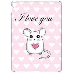 Cute Mouse   Valentines Day Apple Ipad Pro 12 9   Hardshell Case by Valentinaart