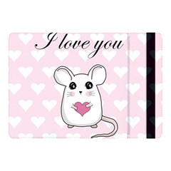 Cute Mouse   Valentines Day Apple Ipad Pro 10 5   Flip Case by Valentinaart