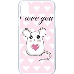 Cute Mouse - Valentines Day Apple Iphone X Seamless Case (white) by Valentinaart