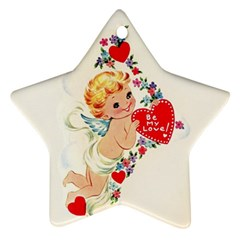 Cupid   Vintage Star Ornament (two Sides) by Valentinaart