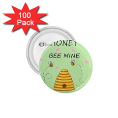 Bee Mine Valentines Day 1 75  Buttons (100 Pack)  by Valentinaart