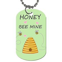 Bee Mine Valentines Day Dog Tag (two Sides)