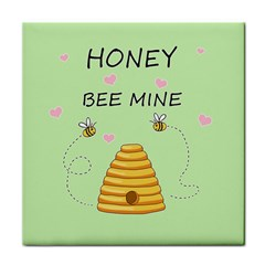 Bee Mine Valentines Day Face Towel by Valentinaart