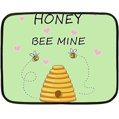 Bee Mine Valentines Day Double Sided Fleece Blanket (mini)  by Valentinaart