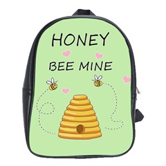 Bee Mine Valentines Day School Bag (large) by Valentinaart