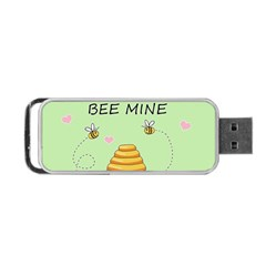 Bee Mine Valentines Day Portable Usb Flash (two Sides) by Valentinaart