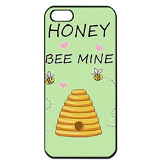 Bee Mine Valentines Day Apple Iphone 5 Seamless Case (black) by Valentinaart