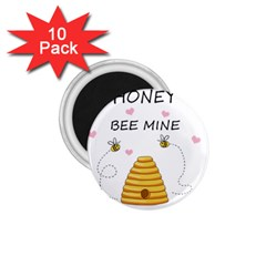 Bee Mine Valentines Day 1 75  Magnets (10 Pack)
