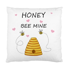 Bee Mine Valentines Day Standard Cushion Case (two Sides) by Valentinaart