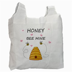 Bee Mine Valentines Day Recycle Bag (two Side)  by Valentinaart