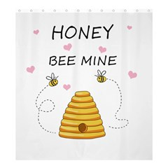 Bee Mine Valentines Day Shower Curtain 66  X 72  (large)  by Valentinaart