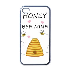 Bee Mine Valentines Day Apple Iphone 4 Case (black) by Valentinaart