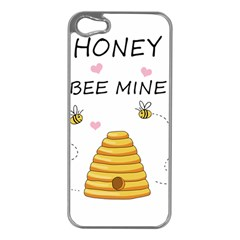 Bee Mine Valentines Day Apple Iphone 5 Case (silver) by Valentinaart