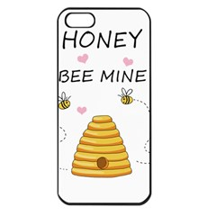 Bee Mine Valentines Day Apple Iphone 5 Seamless Case (black)