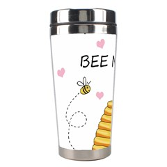 Bee Mine Valentines Day Stainless Steel Travel Tumblers by Valentinaart