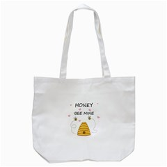 Bee Mine Valentines Day Tote Bag (white) by Valentinaart