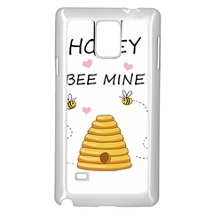 Bee Mine Valentines Day Samsung Galaxy Note 4 Case (white) by Valentinaart