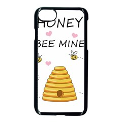 Bee Mine Valentines Day Apple Iphone 7 Seamless Case (black) by Valentinaart