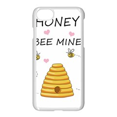 Bee Mine Valentines Day Apple Iphone 7 Seamless Case (white) by Valentinaart