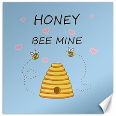 Bee Mine Valentines Day Canvas 12  X 12