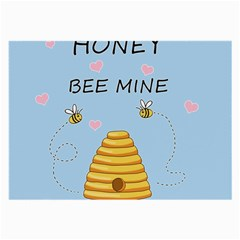 Bee Mine Valentines Day Large Glasses Cloth