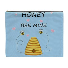 Bee Mine Valentines Day Cosmetic Bag (xl) by Valentinaart