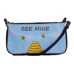 Bee Mine Valentines Day Shoulder Clutch Bags by Valentinaart