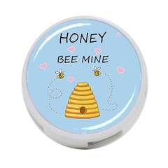 Bee Mine Valentines Day 4 Port Usb Hub (one Side) by Valentinaart