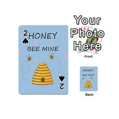 Bee Mine Valentines Day Playing Cards 54 (mini)  by Valentinaart