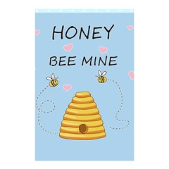 Bee Mine Valentines Day Shower Curtain 48  X 72  (small)  by Valentinaart