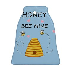 Bee Mine Valentines Day Ornament (bell) by Valentinaart