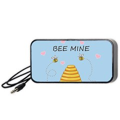 Bee Mine Valentines Day Portable Speaker by Valentinaart