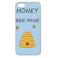 Bee Mine Valentines Day Apple Seamless Iphone 5 Case (clear)