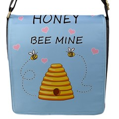 Bee Mine Valentines Day Flap Messenger Bag (s) by Valentinaart