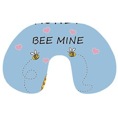 Bee Mine Valentines Day Travel Neck Pillows by Valentinaart
