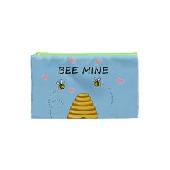 Bee Mine Valentines Day Cosmetic Bag (xs) by Valentinaart
