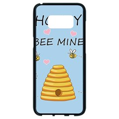 Bee Mine Valentines Day Samsung Galaxy S8 Black Seamless Case by Valentinaart