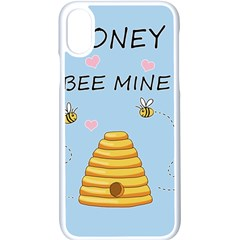Bee Mine Valentines Day Apple Iphone X Seamless Case (white) by Valentinaart
