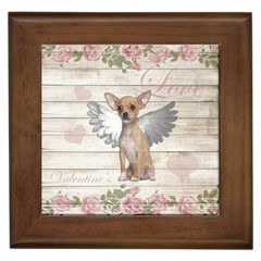 Vintage Chihuahua   Valentines Day Framed Tiles by Valentinaart