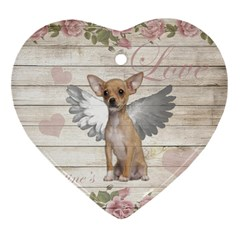 Vintage Chihuahua   Valentines Day Ornament (heart)