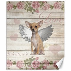 Vintage Chihuahua   Valentines Day Canvas 20  X 24   by Valentinaart