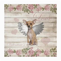 Vintage Chihuahua   Valentines Day Medium Glasses Cloth (2 Side)