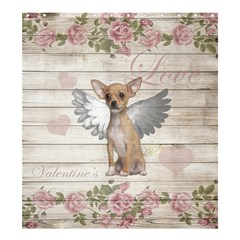 Vintage Chihuahua   Valentines Day Shower Curtain 66  X 72  (large)  by Valentinaart