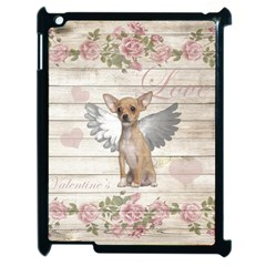 Vintage Chihuahua   Valentines Day Apple Ipad 2 Case (black) by Valentinaart
