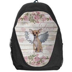 Vintage Chihuahua   Valentines Day Backpack Bag by Valentinaart