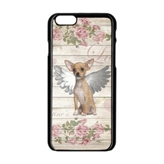 Vintage Chihuahua   Valentines Day Apple Iphone 6/6s Black Enamel Case by Valentinaart