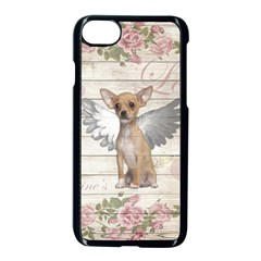 Vintage Chihuahua   Valentines Day Apple Iphone 8 Seamless Case (black) by Valentinaart