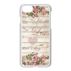 Vintage Chihuahua   Valentines Day Apple Iphone 8 Seamless Case (white)
