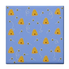 Bee Pattern Tile Coasters by Valentinaart