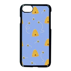 Bee Pattern Apple Iphone 8 Seamless Case (black) by Valentinaart